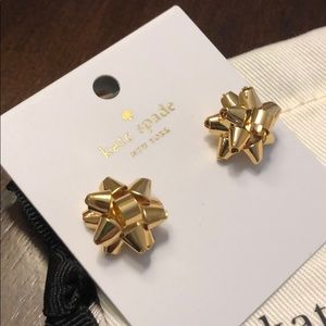 Kate Spade Gold Bourgeois Bow Earrings